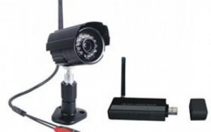 A wireless security camera and USB receiver
