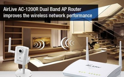Airlive dual band AP router enhances security
